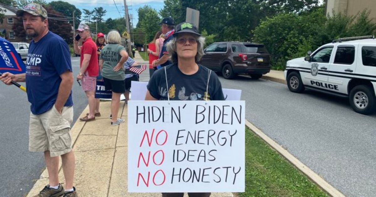 Former Vice President Joe Biden was greeted by an army of supporters of President Donald Trump as he hit the campaign trail in Lancaster, Pennsylvania, on Thursday.