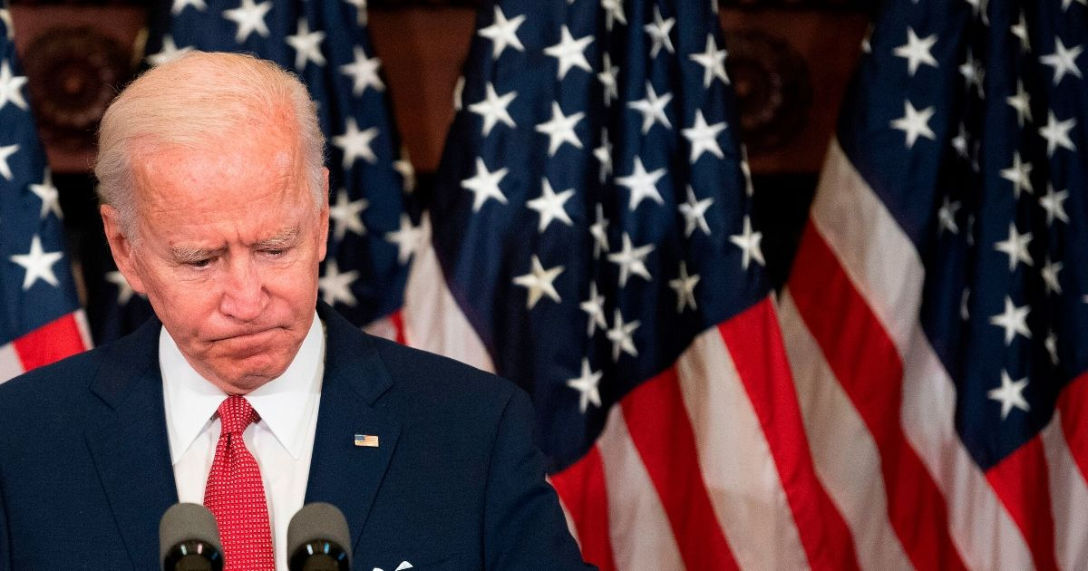 Former vice president and Democratic presidential candidate Joe Biden speaks about the unrest across the country from Philadelphia City Hall on June 2, 2020, in Philadelphia.