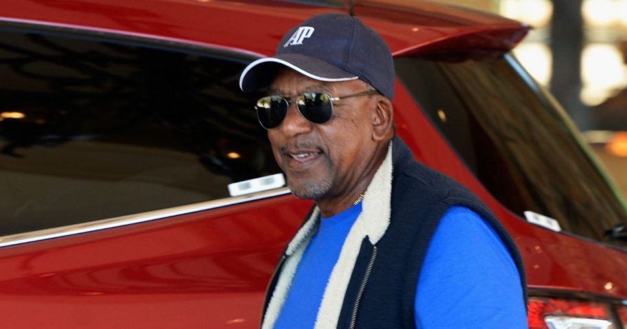 """BET founder Robert Johnson, pictured in a 2009 file photo, is proposing the government pay $14 trillion in reparations to the """"descendants of slaves"""" in the United States."""
