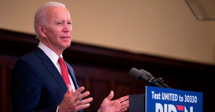 Former Vice President Joe Biden speaks in Philadelphia on June 2.