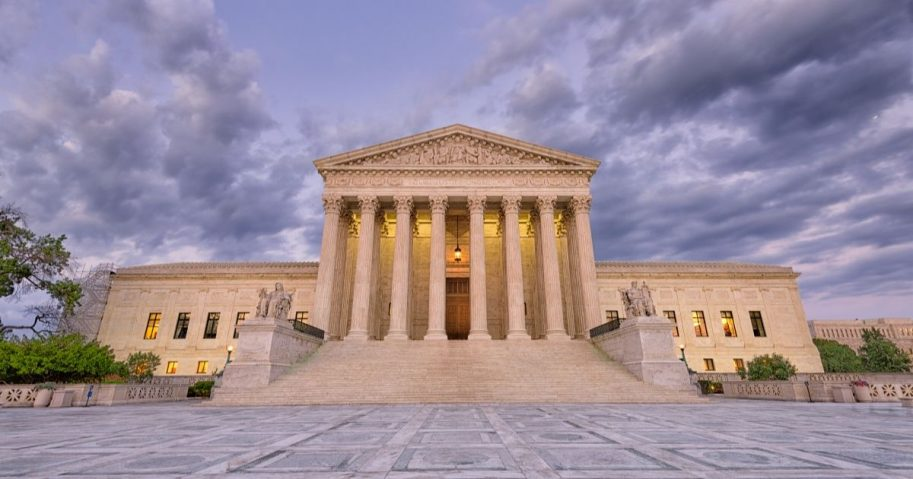 Stock image of the Supreme Court in Washington, D.C.