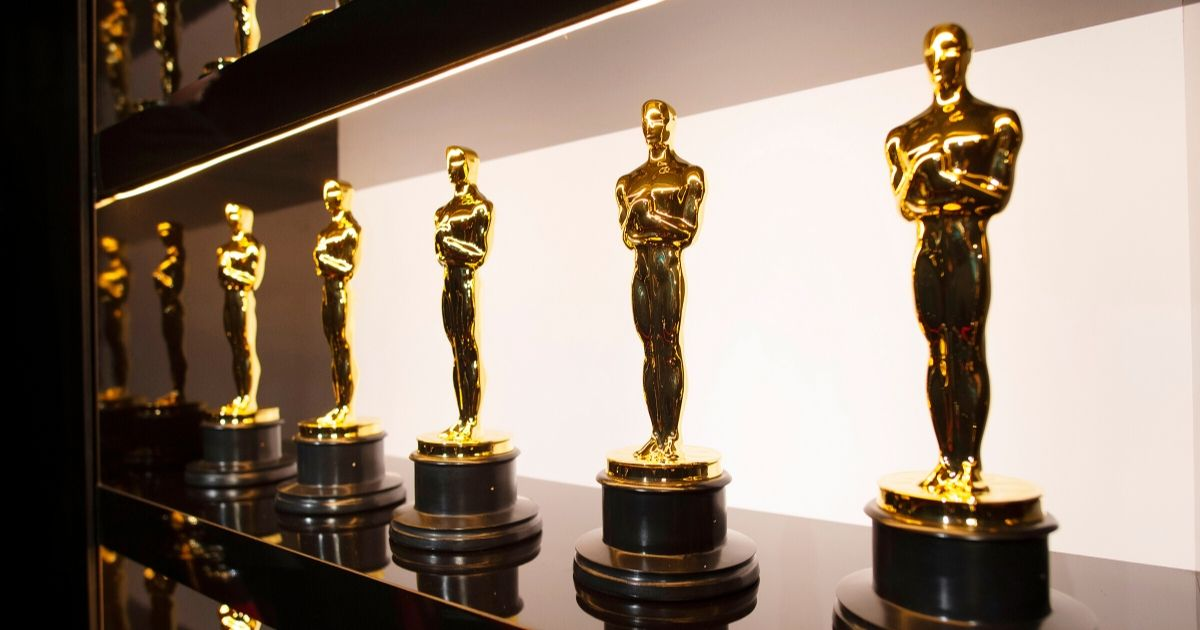 Oscars statuettes are on display backstage during the 92nd annual Academy Awards at the Dolby Theatre on Feb. 9, 2020 in Hollywood.