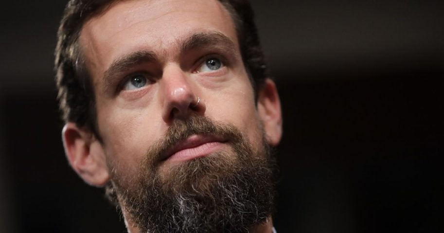 Twitter CEO Jack Dorsey looks on during a Senate Intelligence Committee hearing concerning foreign influence operations' use of social media platforms on September 5, 2018 in Washington, DC.
