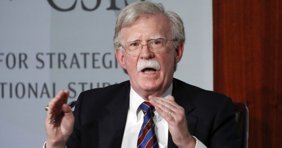 In this Sept. 30, 2019, file photo, former national security adviser John Bolton speaks at the Center for Strategic and International Studies in Washington, D.C.