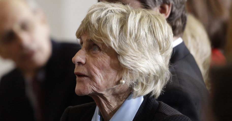 In this Jan. 20, 2011, file photo, Jean Kennedy Smith attends a ceremony marking the 50th anniversary of President John F. Kennedy's inaugural speech on Capitol Hill in Washington. Jean Kennedy Smith, the youngest sister and last surviving sibling of President John F. Kennedy, died at 92, her daughter confirmed to The New York Times on June 17, 2020.