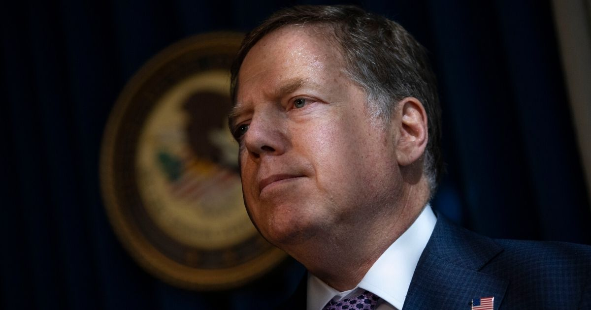 Geoffrey Berman, U.S. Attorney for the Southern District of New York, attends a news conference on October 10, 2019, in New York City.