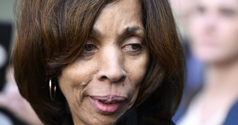 In this Feb. 27, 2020, file photo, former Baltimore Mayor Catherine Pugh leaves her sentencing hearing at U.S. District Court in Baltimore.
