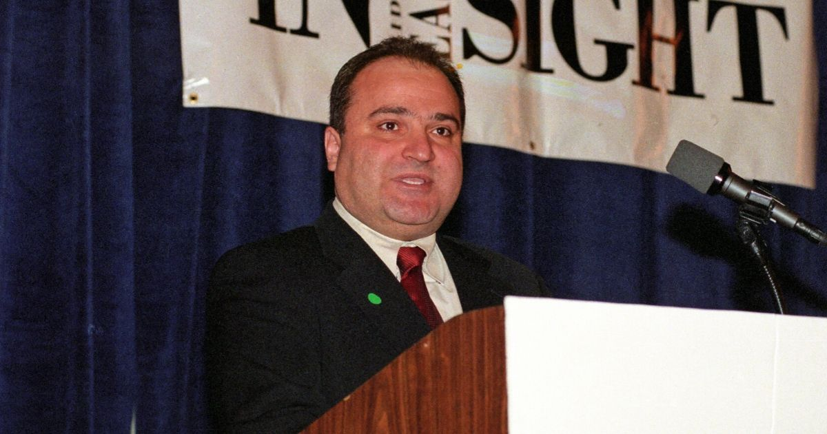 Lebanese-American businessman and convicted sex offender George Nader speaks during an event in Washington, D.C., on March 18, 1999.
