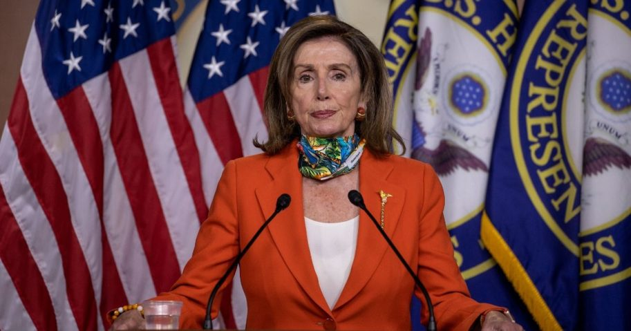 Speaker of the House Nancy Pelosi speaks at her weekly news conference on Capitol Hill on June 26, 2020, in Washington, D.C. Pelosi spoke about the police bill and D.C. statehood.