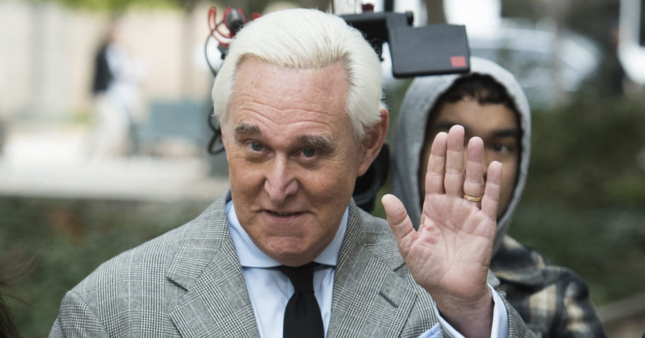 Roger Stone arrives at federal court