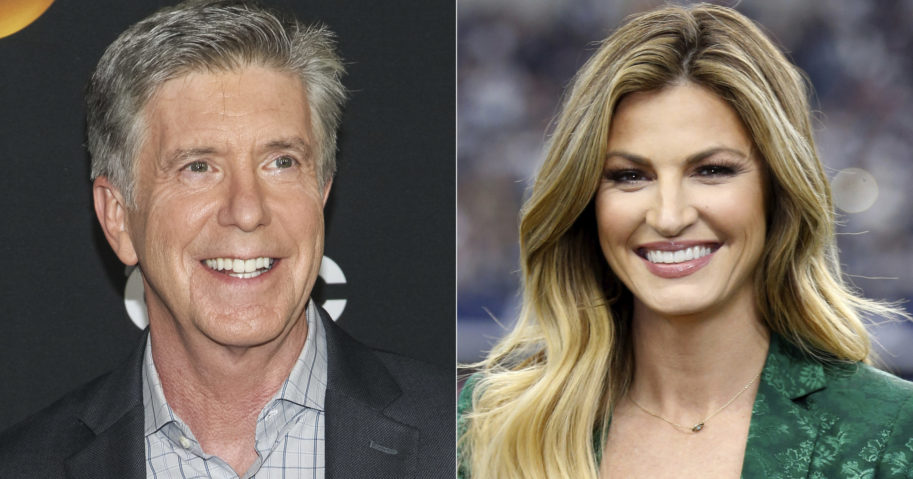 'Dancing with the Stars' co-hosts Tom Bergeron, left, and Erin Andrews.