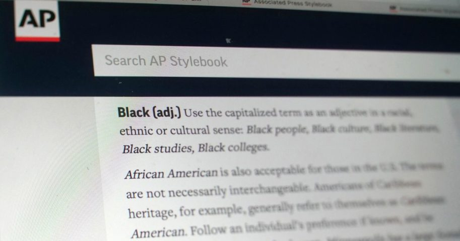 """The entry for the word """"Black"""" is shown in the online version of the AP Stylebook on June 19, 2020."""