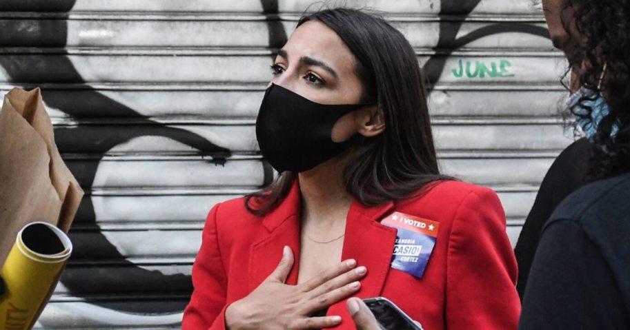 Democratic Rep. Alexandria Ocasio-Cortez campaigns in the Bronx borough of New York City on June 23, 2020.