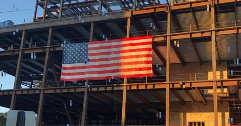 Ultimately, the Gilbane Building Company, the general contractor at the construction site where the flag was hung, complied with the request to take it down.