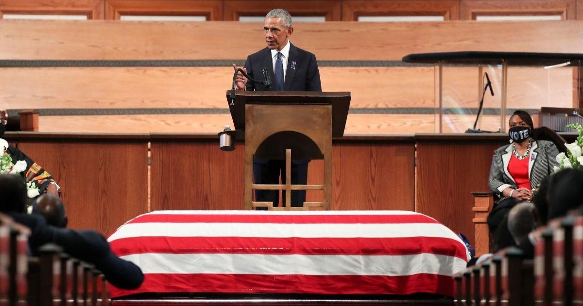 Obama Hijacks John Lewis' Funeral To Smear Law Enforcement and Savage Trump