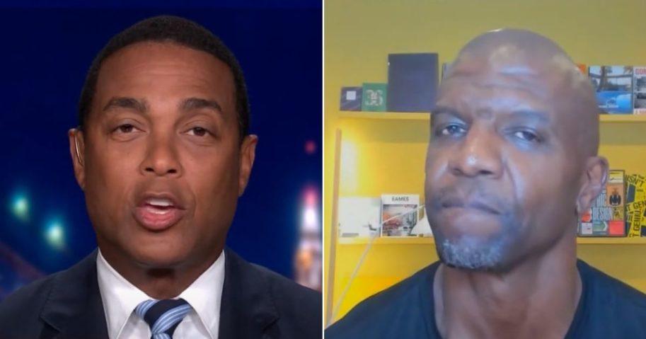 CNN host Don Lemon, left, chastises actor Terry Crews.