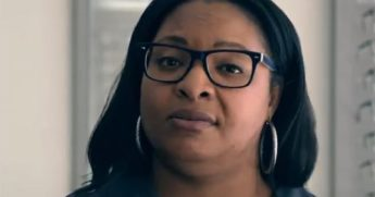 Philadelphia business owner Tiffany Easley appears in a Joe Biden campaign advertisement.