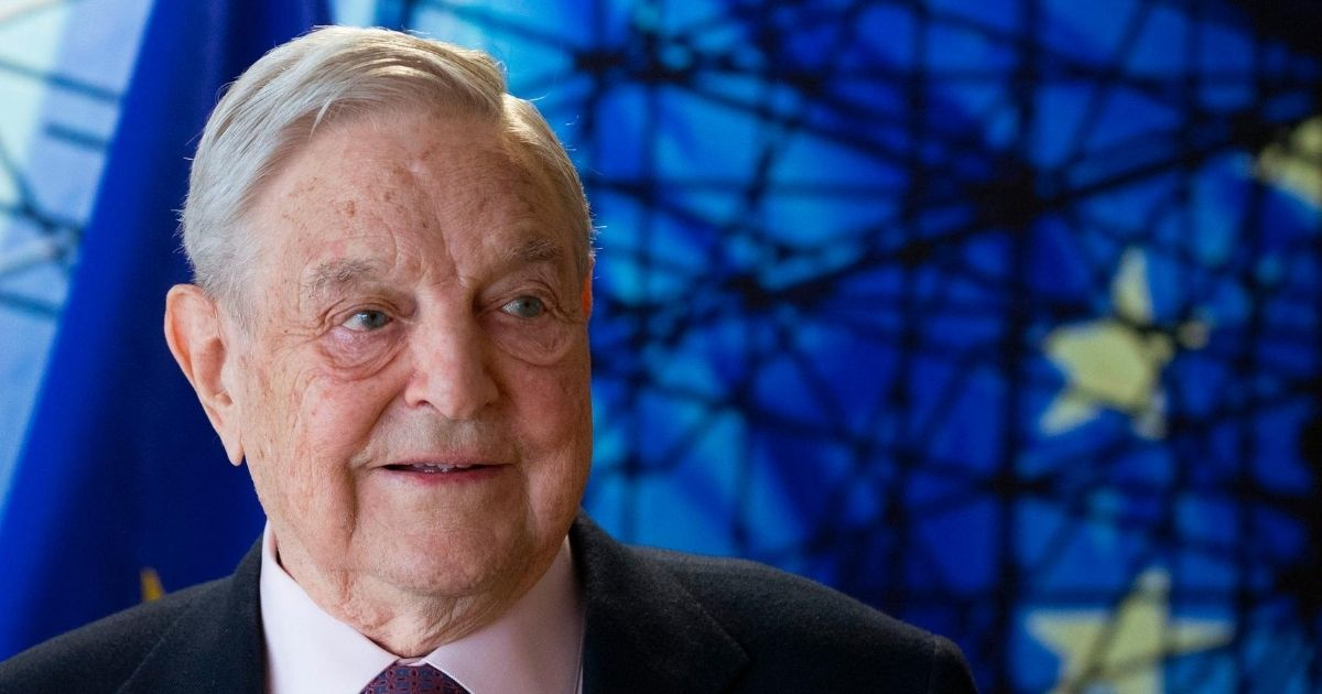 George Soros, founder and chairman of the Open Society Foundations, arrives for a meeting in Brussels, on April 27, 2017.