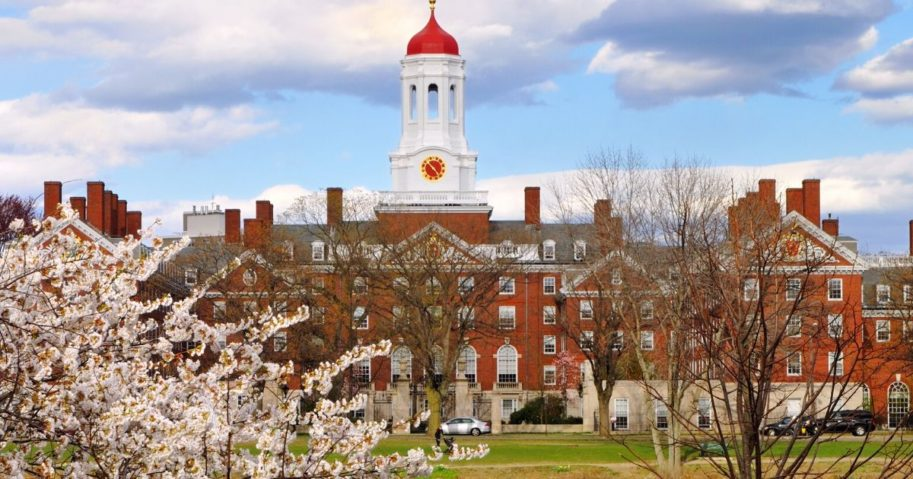 The campus of Harvard University is seen in the stock image above.