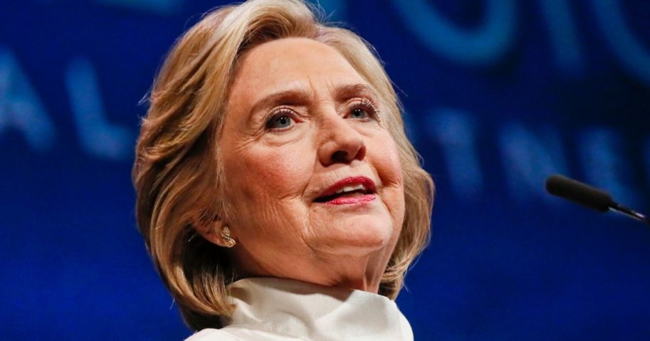 Former Secretary of State Hillary Clinton speaks at the Kennedy Center in Washington on April 24, 2019.