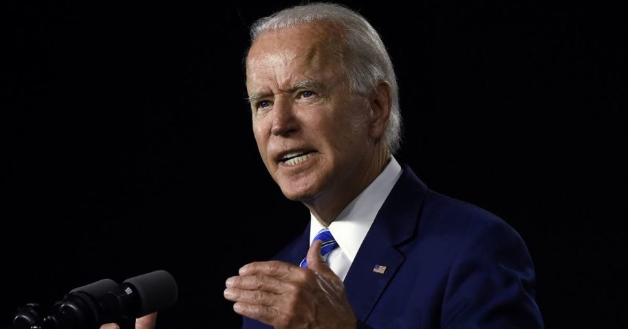 Democratic presidential candidate Joe Biden speaks at the Chase Center in Wilmington, Delaware, on July 14, 2020.