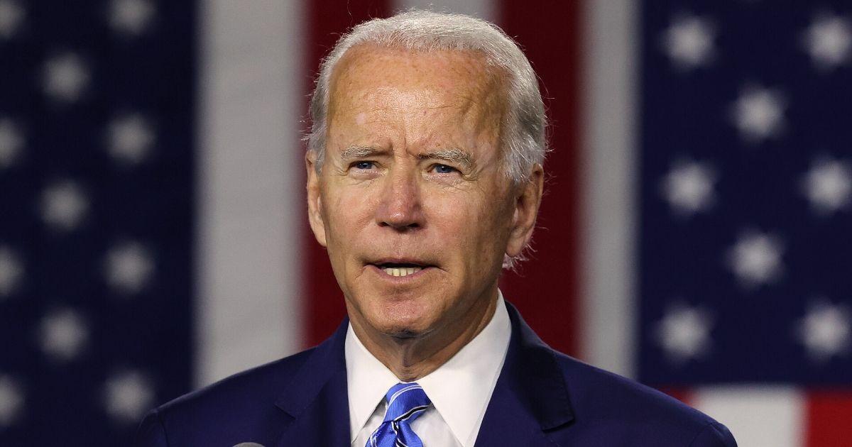 Former Vice President Joe Biden speaks at the Chase Center on July 14, 2020, in Wilmington, Delaware.