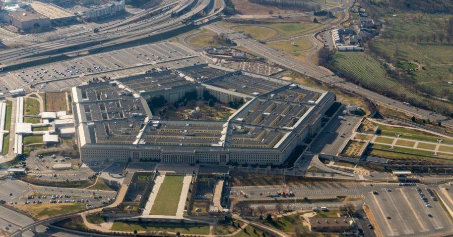 The U.S. Pentagon is seen above.