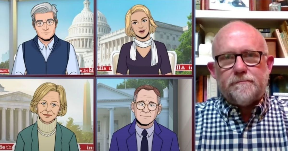 """Wilson joined CBS' animated skit """"Tooning Out the News"""" to discuss The Lincoln Project with cartoon anchors, where he was mercilessly mocked by a spoof show, an extension of the network's """"The Late Show."""""""