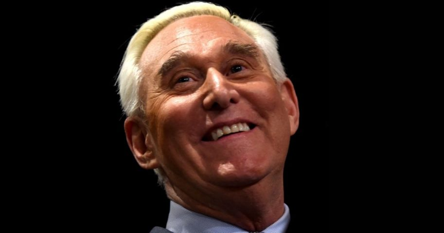 Roger Stone speaks during a news conference in Washington, D.C., on Jan. 31, 2019.