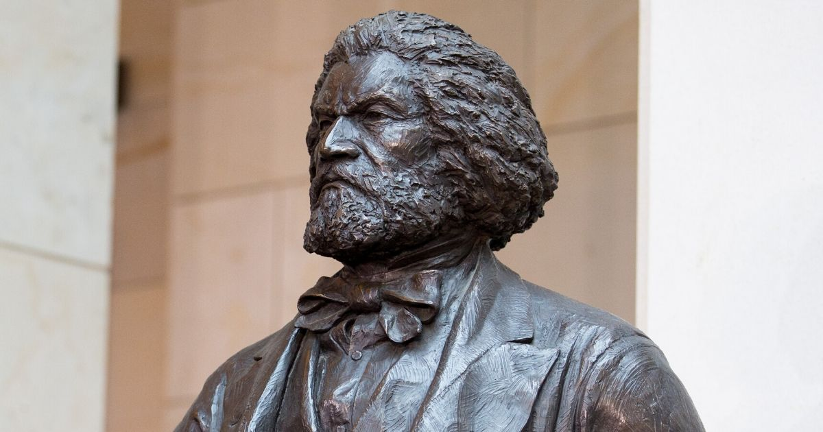 The Frederick Douglass statue in Emancipation Hall at the U.S. Capitol on June 19, 2013, in Washington, D.C.