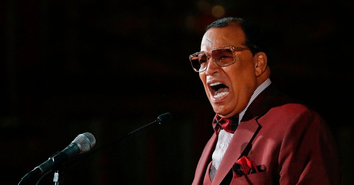 Anti-Semitic Nation of Islam leader Louis Farrakhan speaks about his ousting from Facebook at St. Sabina Catholic Church in Chicago on May 9, 2019.
