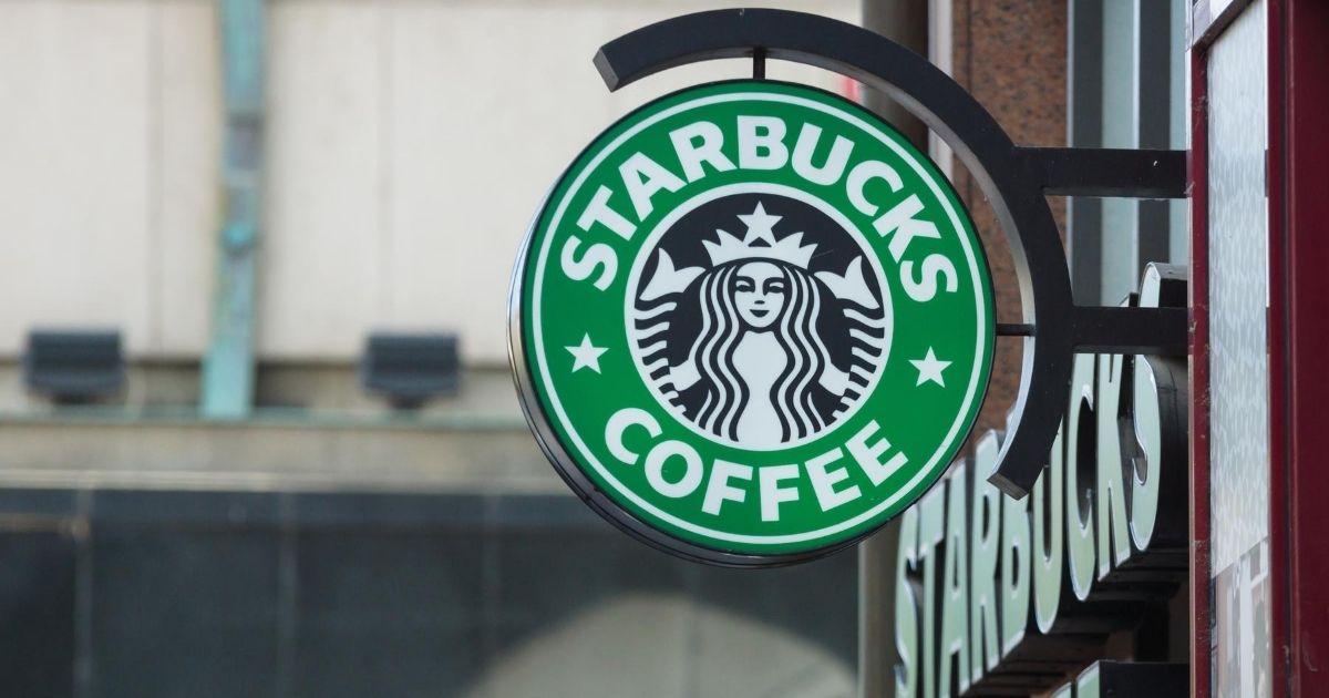 A Starbucks Coffee sign.