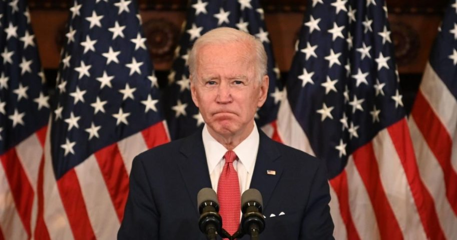 Former Vice President Joe Biden, the presumptive Democratic presidential nominee, speaks about the unrest across the country from Philadelphia City Hall on June 2, 2020, in Philadelphia.