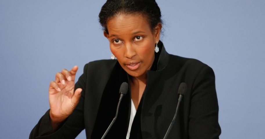 Human rights activist Ayaan Hirsi Ali attends a book presentation in Berlin, Germany, in 2015.