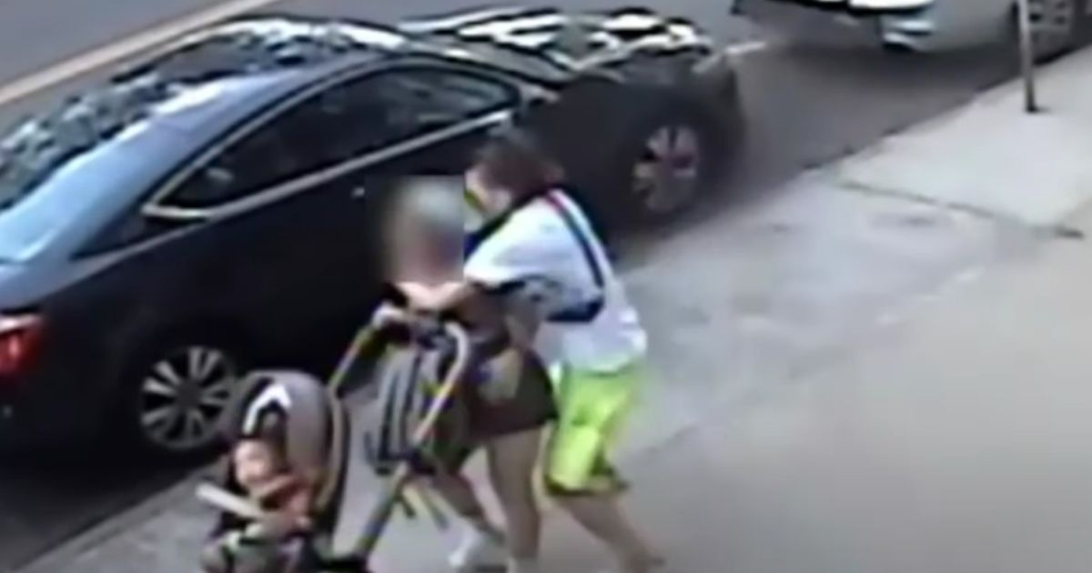 On Tuesday, security cameras caught a brutal Bronx incident in which a man attacked a 21-year-old woman -- allegedly his ex-girlfriend -- placed her in a chokehold and stabbed her repeatedly. As he assaulted her, he knocked her infant child in a stroller onto the pavement.
