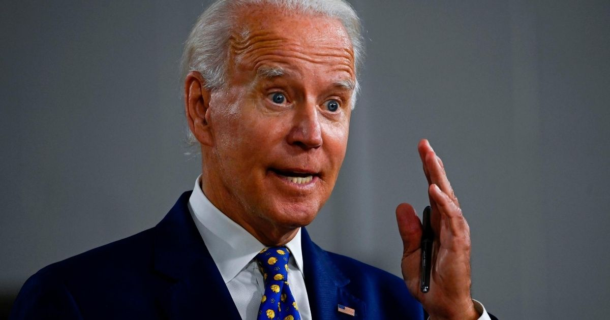 Democratic presidential candidate and former Vice President Joe Biden speaks during a campaign event in Wilmington, Delaware, on July 28, 2020.