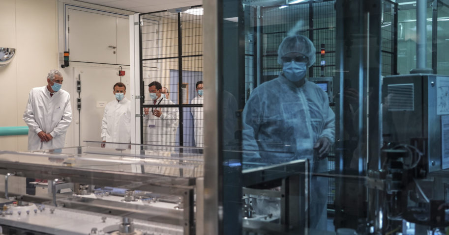 This June 16, 2020, file photo shows the vaccine unit at the Sanofi Pasteur plant in central France.