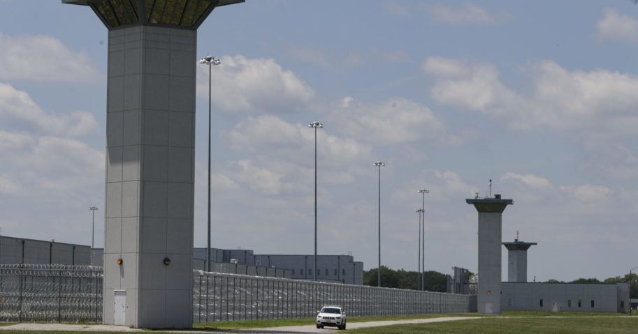 In this July 17, 2020, file photo, the federal prison complex in Terre Haute, Indiana, is shown. The Justice Department scheduled two additional federal executions on July 31, an announcement that comes weeks after it fought off last-minute legal challenges and successfully resumed federal executions following a 17-year pause.