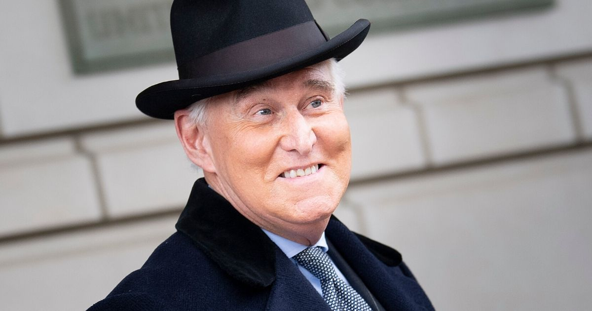 Roger Stone leaves a federal court after a sentencing hearing on Feb. 20, 2020, in Washington, D.C.