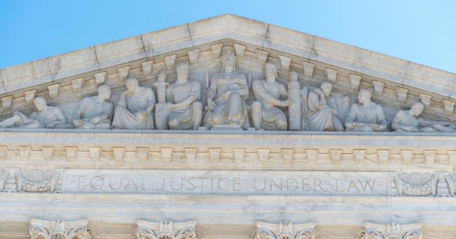 The Supreme Court building in Washington, D.C., is seen in this stock image.