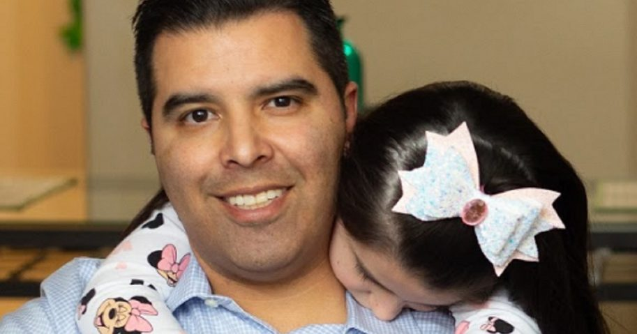Texas Home School Coalition and his daughter, Ann, are pictured in a photo provided by the Texas Home School Coalition.