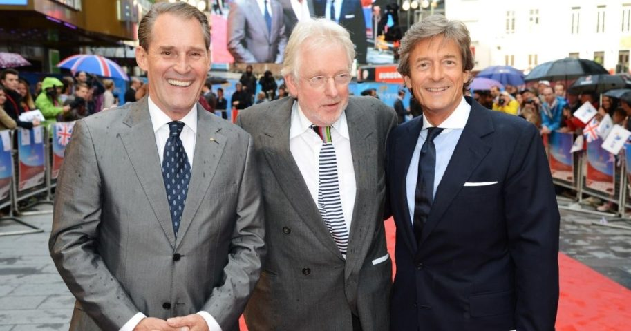 "Ben Cross, left, attends the U.K. premiere of ""Chariots of Fire"" with Hugh Hudson, center, and Nigel Havers at the Empire Leicester Square in London on July 10, 2012."