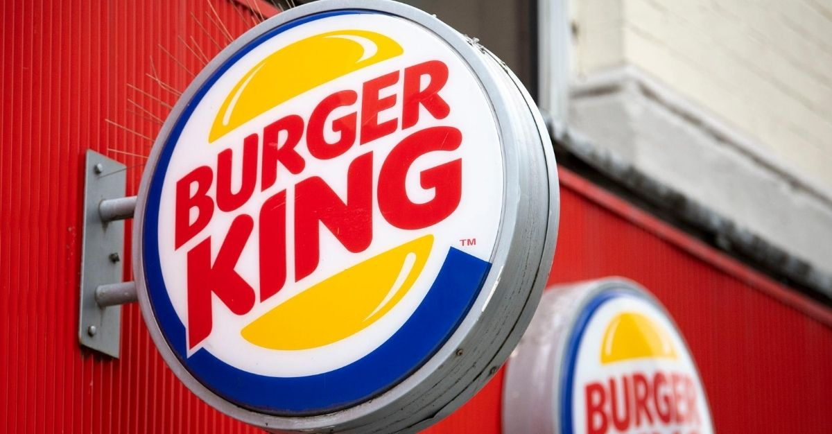 A Burger King sign in Cardiff, United Kingdom, is pictured above.