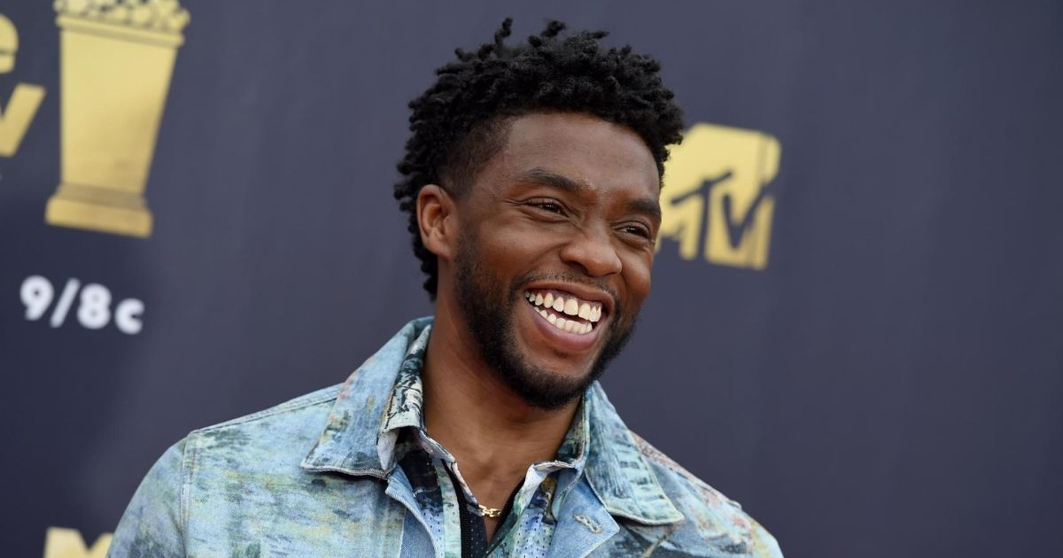 In this June 16, 2018, file photo, Chadwick Boseman arrives at the MTV Movie and TV Awards at the Barker Hangar in Santa Monica, California.