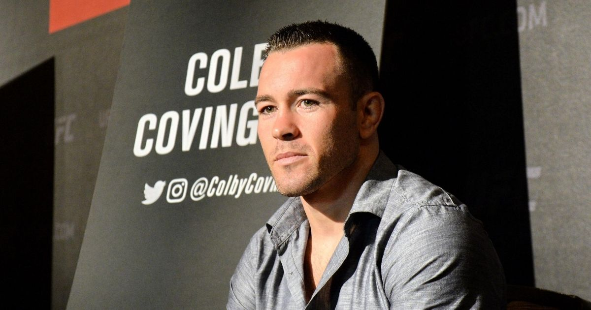 Colby Covington speaks to reporters during the UFC Fight Night media event in Singapore on June 15, 2017.