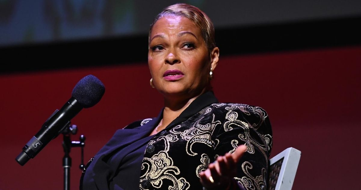 Donna Hylton speaks onstage at the Apollo Theater in New York City on Sept. 23, 2018.