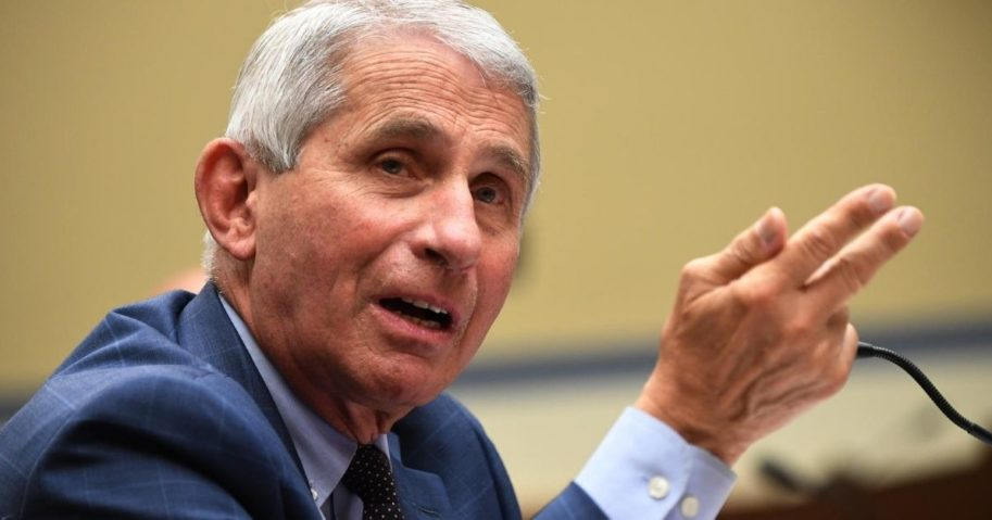Dr. Anthony Fauci testifies before a House Subcommittee on the Coronavirus Crisis hearing on July 31, 2020, in Washington, D.C.