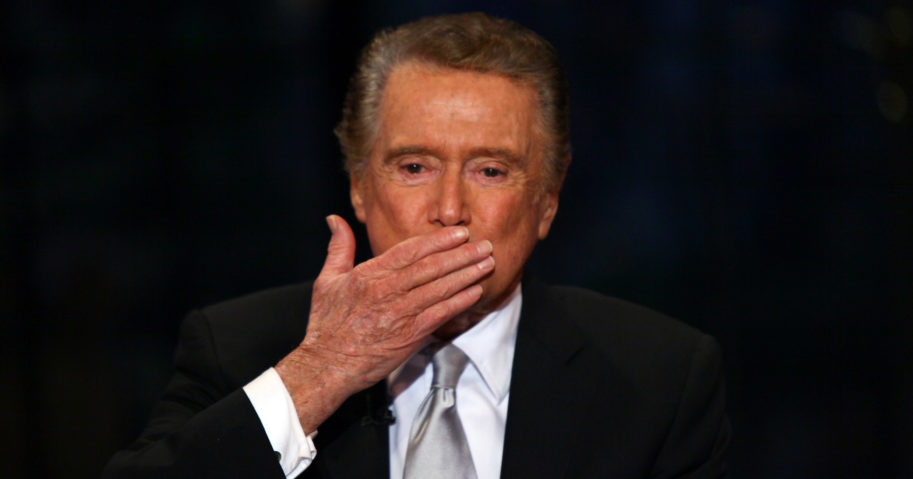 Regis Philbin is seen on set during the final show of 'Live! with Regis and Kelly' on Nov. 18, 2011, in New York City.