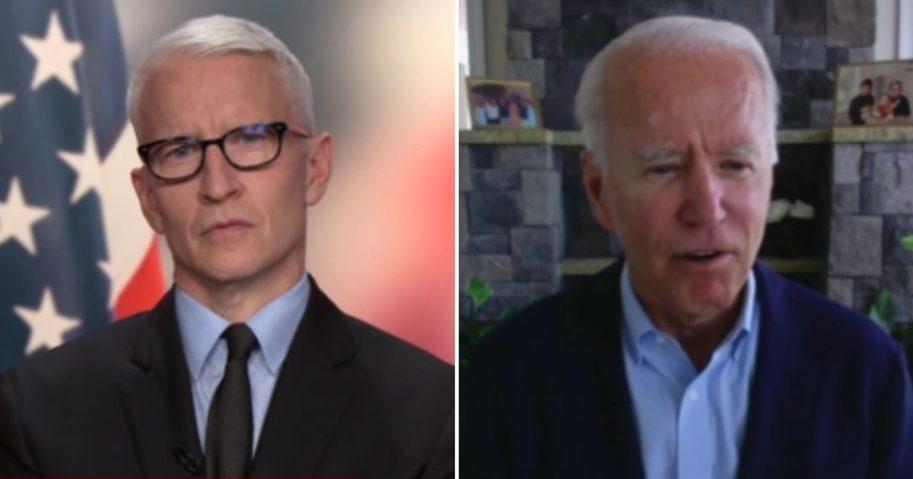 Joe Biden, Anderson Cooper.