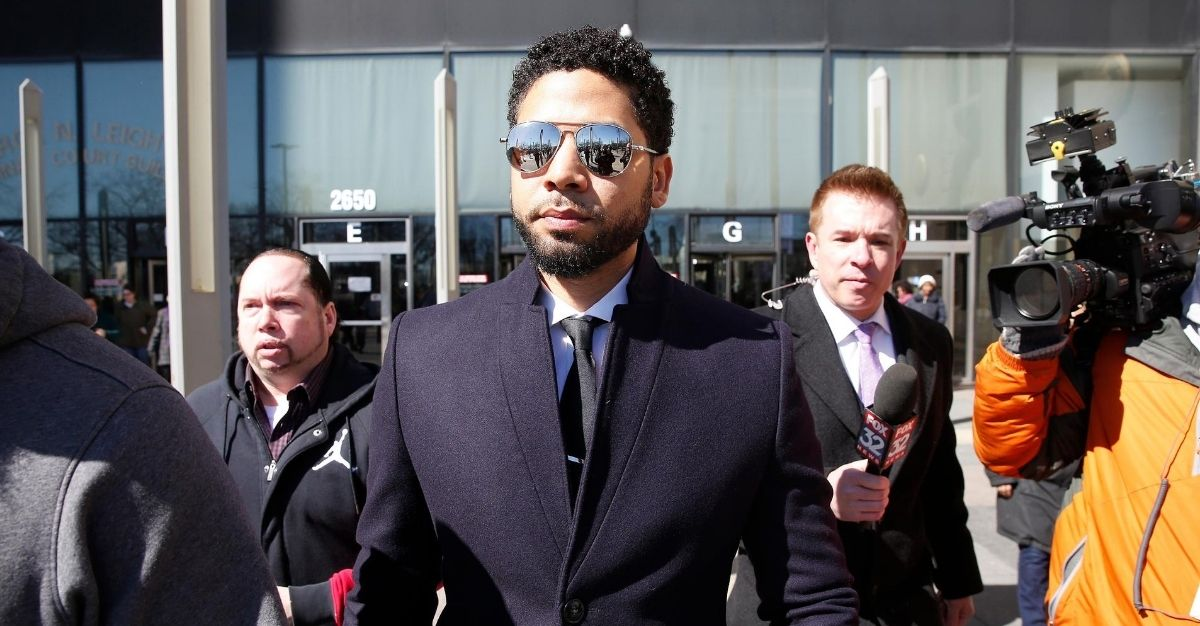 Actor Jussie Smollett leaves the Leighton Courthouse after his court appearance on March 26, 2019, in Chicago.